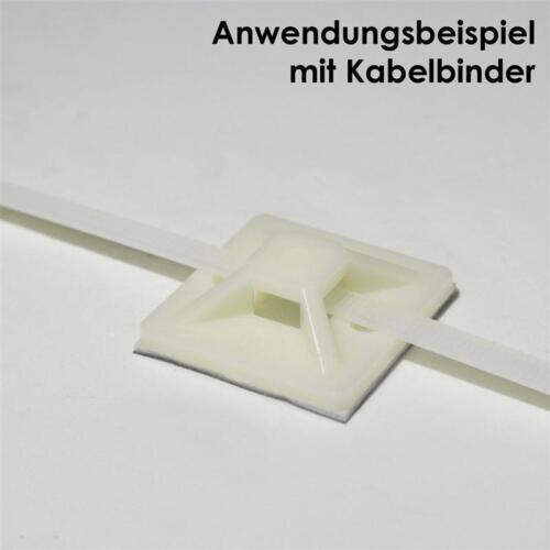 25 klebesockel con corchete para bridas 30x30mm kabelbinderhalter soporte zócalo