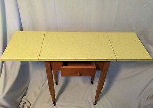 Delightful Image Is Loading Vintage Mid Century Modern Yellow Formica Table