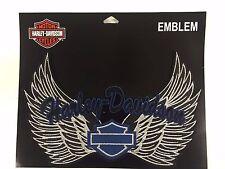 Genuine Harley Davidson Blue, Silver & Black Harley Wings Emblem Patch EM074896
