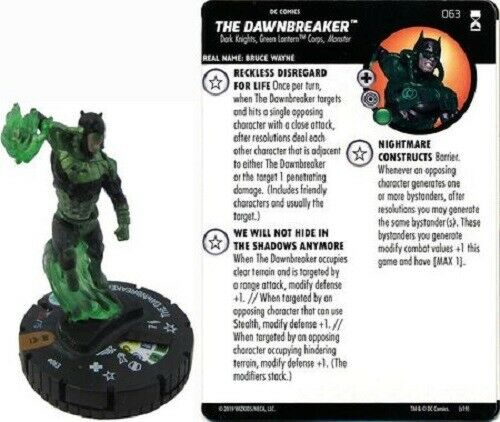 DC Heroclix-Renacimiento-el Dawnbreaker  063 - Chaser Chase Raro