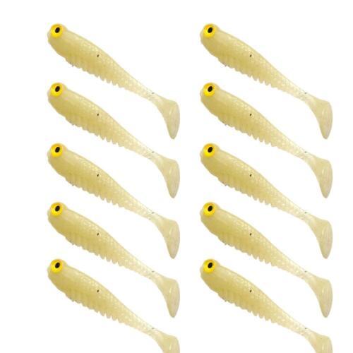 10pcs//lot Soft Bait fishing lure 50mm//1.2g luminous smell Jig Hook Clam worm LG