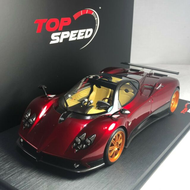 Top Speed 1/18 Pagani Zonda ROSSO Dubai Red Resin Model