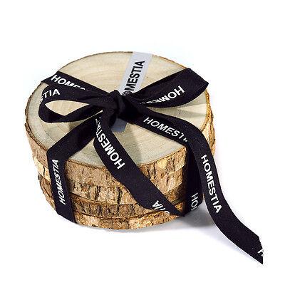 4pcs Camphor Wood Coasters Wood Slice Tea Cup Mat Pad Holder Natural Tree Bark