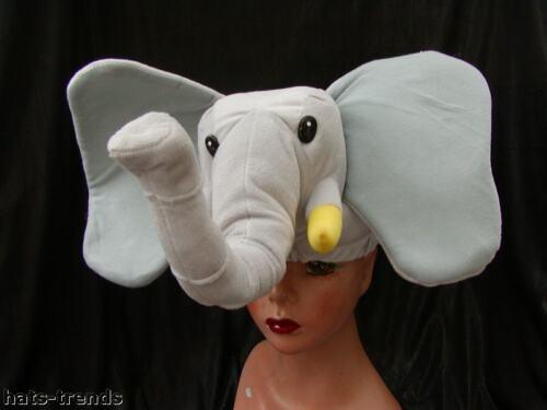 Kuschelhut Elefant Karneval  Gr 57 Hut Mütze Fasching Partyhut Sylvester Spass