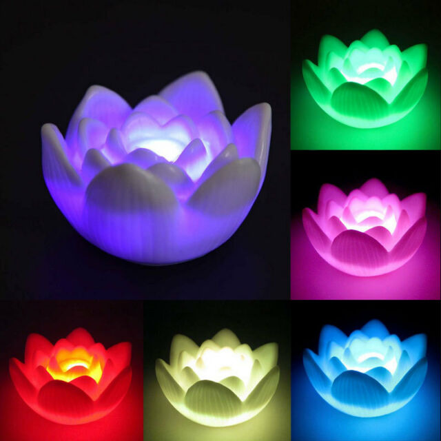 Color Changing Lotus Flower Love Mood Led Night Light Romantic Lamp