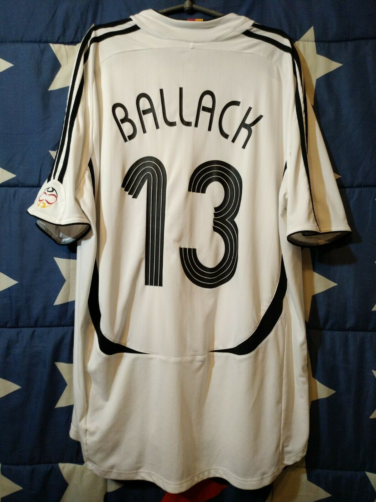 Größe XXL GERMANY 2005-2007 HOME FOOTBALL SHIRT JERSEY BALLACK  13