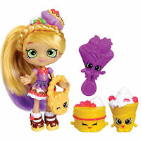 Shopkins Shoppies Fashion Doll Series 1 & 2 - Pam Cake Sara Sushi Rainbow Kate