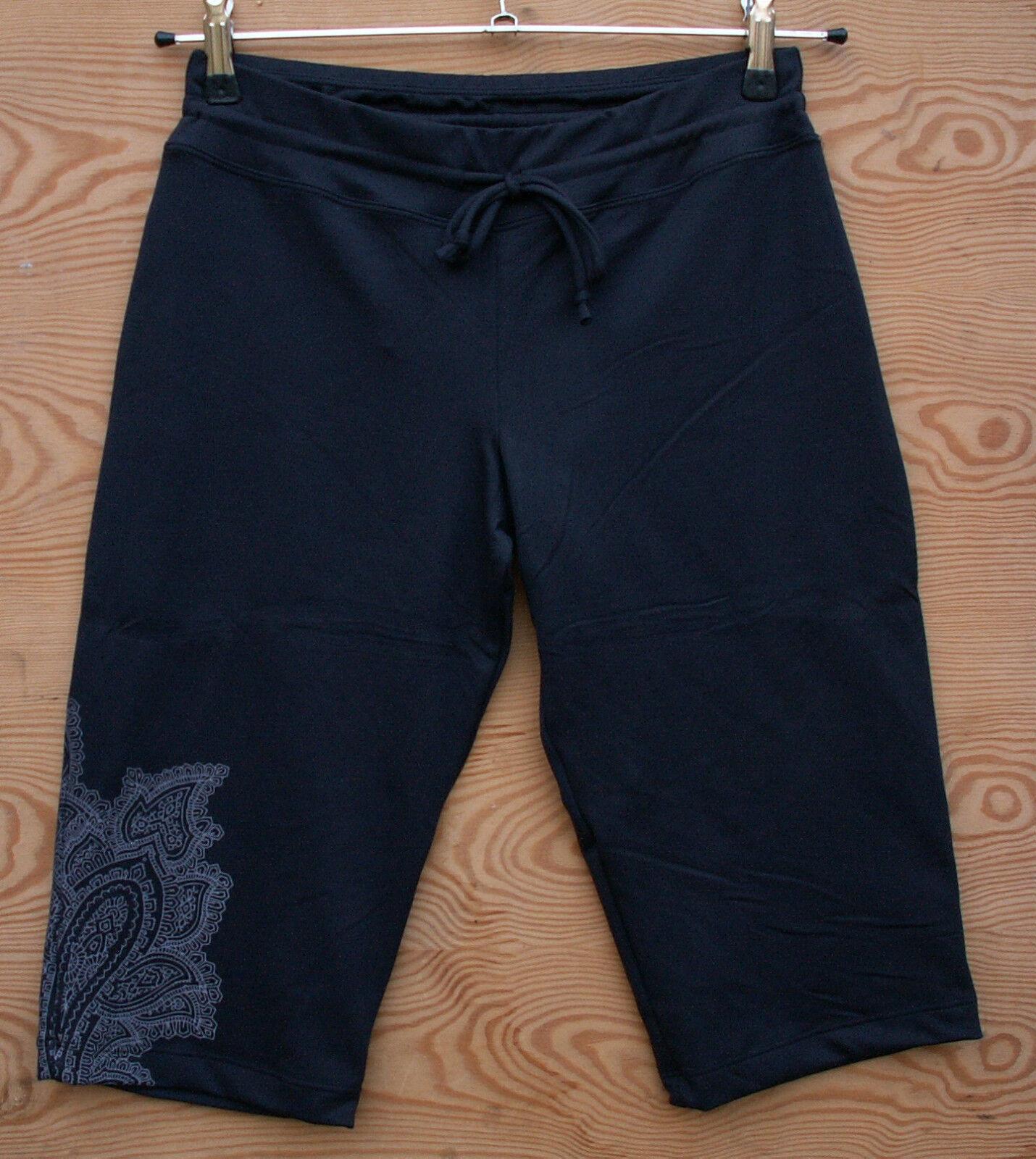 Prana Rylee Knicker Nero Elastica Donna Pantaloni in 12  Lunghezza Taglia XL