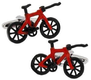 RACING BIKE CUFFLINKS BICYCLE CYCLIST