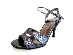 Ladies Anne Michelle L3R413 Pewter Strappy Shoes Sizes 3 to 8 R44A