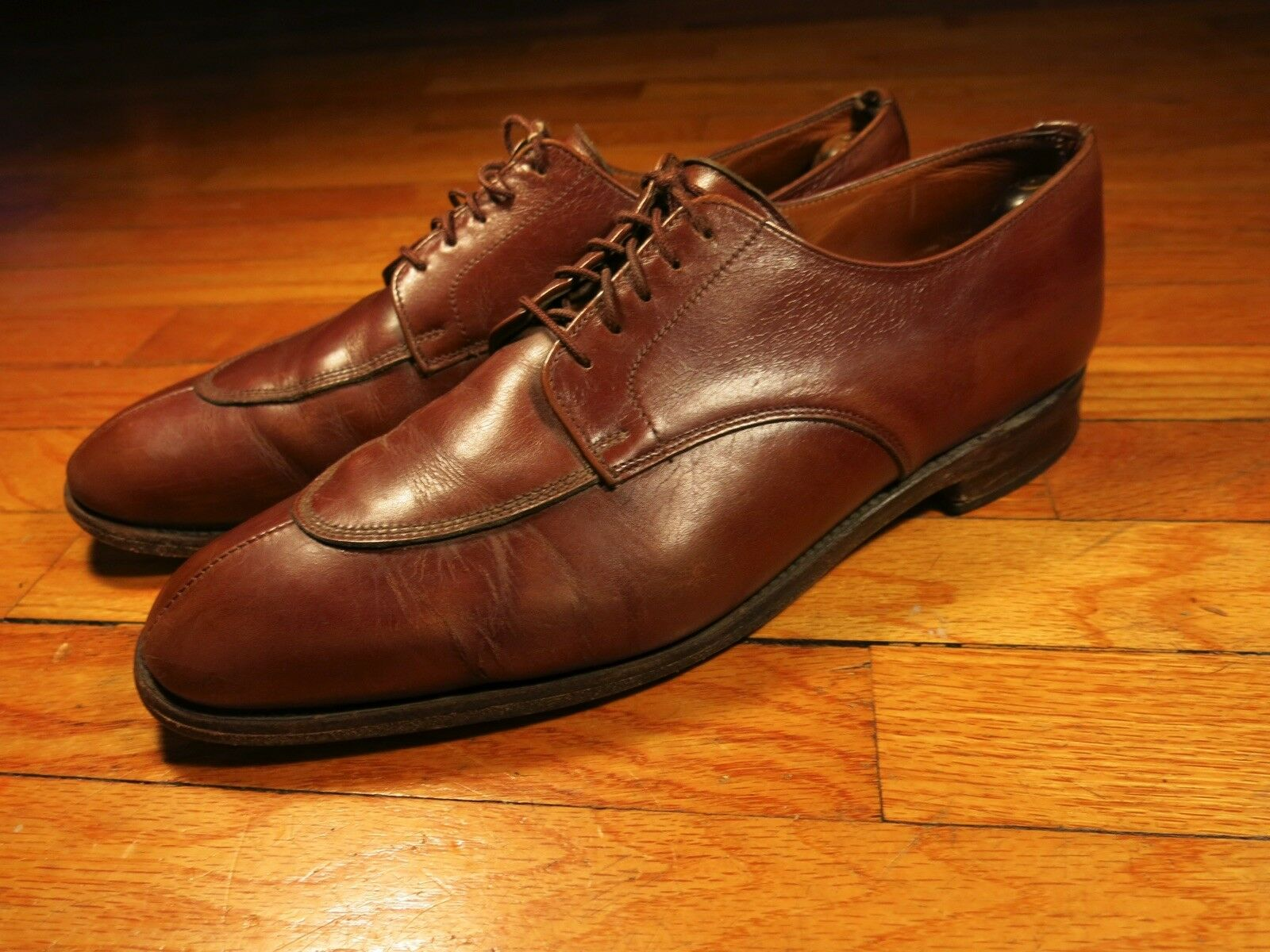 ET Wright Homme 11.5 B Collection Masters Made England Sanders Split Toe Derbies