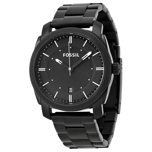 Fossil Men's Machine FS4775 Black Stainless-Steel Analog Quartz Watch