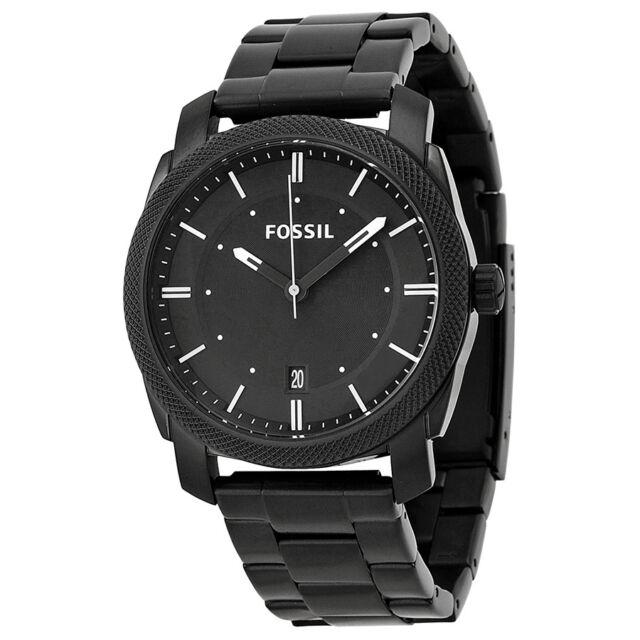 Fossil Men's Machine FS4775 Black Stainless-Steel Analog Quartz Watch