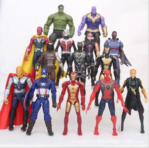 14pcs Marvel Avengers 3 Infinity War Hulk Thor Iron Man Thanos Action Figure Toy