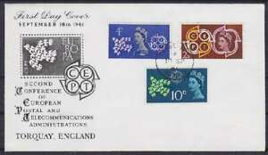 United-Kingdom-FDC-346-348-Postmarked-1961-First-Day-Cover
