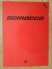 VOLKSWAGEN SCIROCCO 1977-78 UK Mkt Sales Brochure - VW GLS