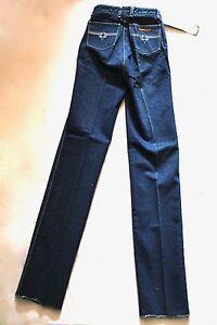 SERGIO-VALENTE-Vintage-Dark-Blue-Skinny-Embroidered-Pocket-26-L-NWT-NOS-4393-Z