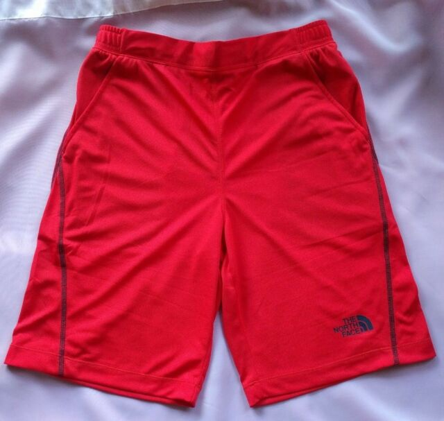 74aa7420a Youth Boys The North Face B MAK High Risk Red Performance Shorts Sz XL