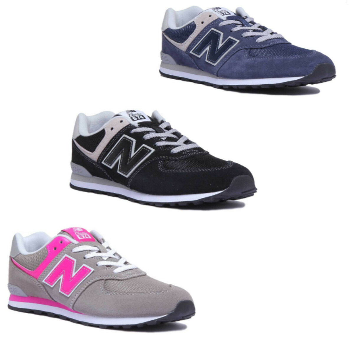NEW Nero Balance GC574GK varie Gioventù Nero NEW Bianco Scarpe Da Ginnastica a563c2