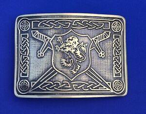 TC Men's Highland Kilt Belt Buckle Saltire Lion Rampant Antique Finish//Buckles