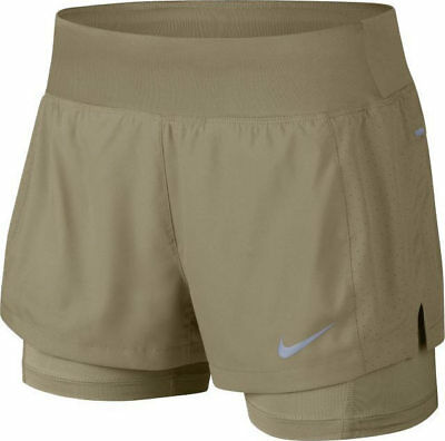 "Womens NIKE Flex Eclipse 2 in 1 Running Shorts Size Small (3"") 895813 209 