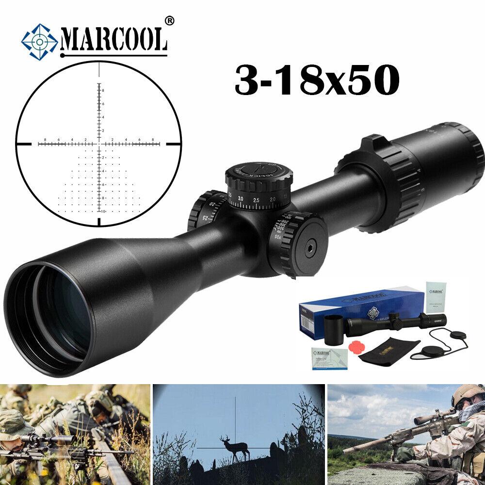 MARCOOL HD 3-18X50 S.A.R. FFP Mira Telescópica Caza Táctica alcances MAR-118