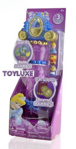 Disney Princess 3 Squinkies /& Dispenser Scepter Wand CINDERELLA Toy Holds 6 NEW