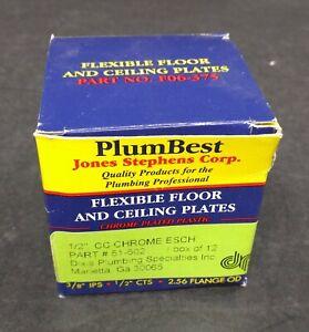 Jones Stephens F06 375 1 2 Cts Plastic Floor And Ceiling Plate Pack Of 12 Ebay