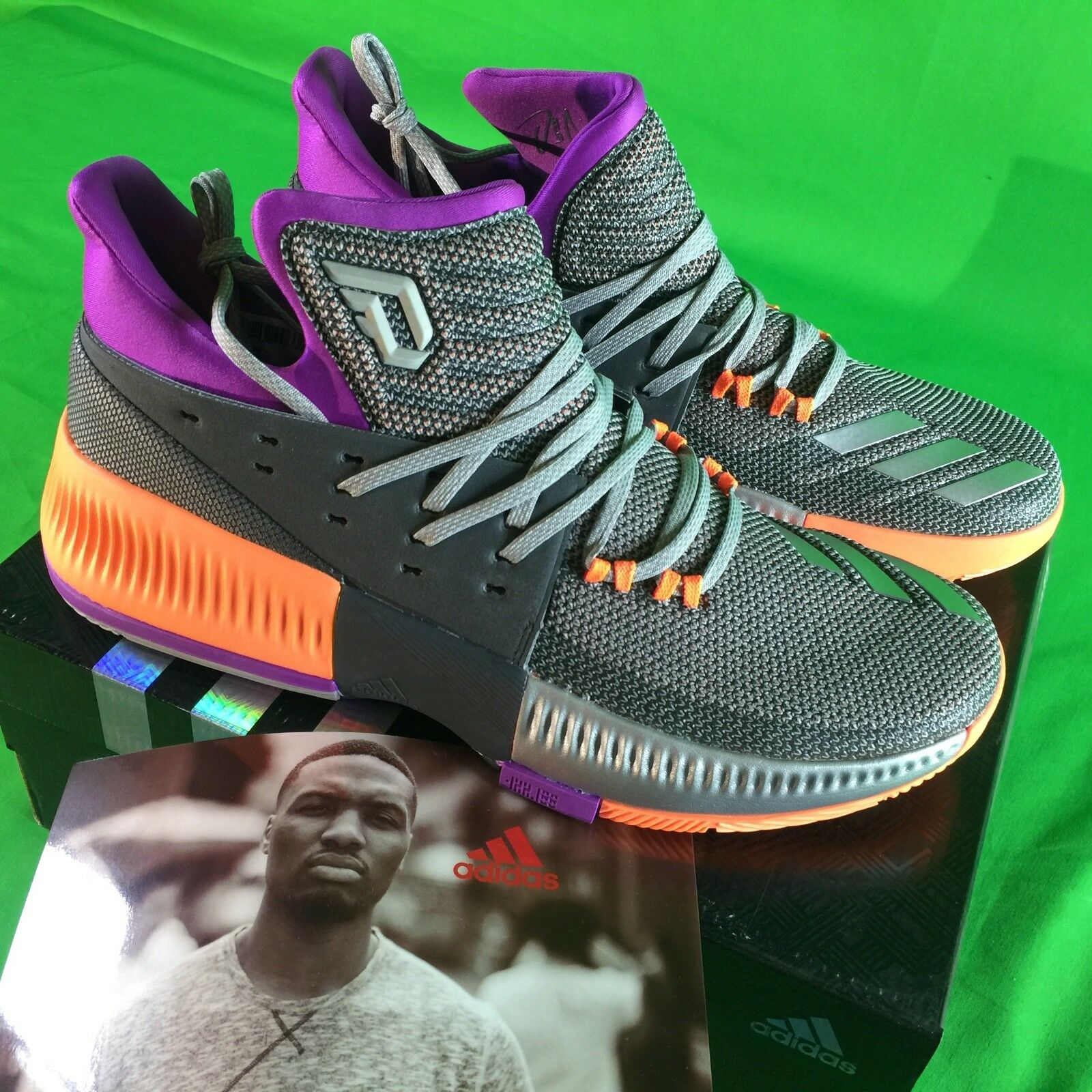 Adidas Dame 3 Men's Size 11.5 All Star Game Basketball shoes Grey NEW BB8270