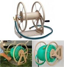 Water Hose Reel Garden Storage Outdoor Wall Mount Metal 200 Foot Hose  Capacity