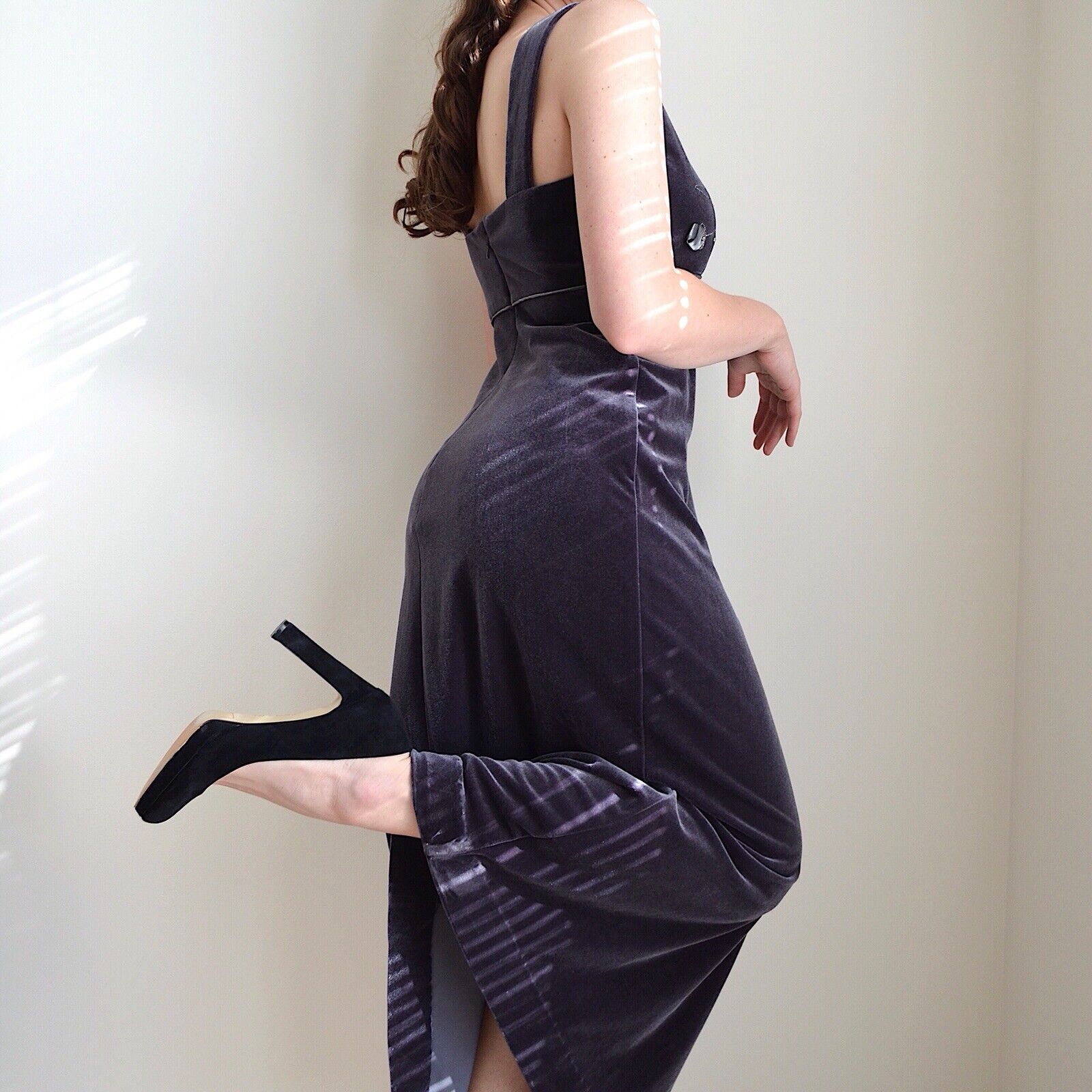 Vintage 1990s Velvet Maxi Dress - image 2