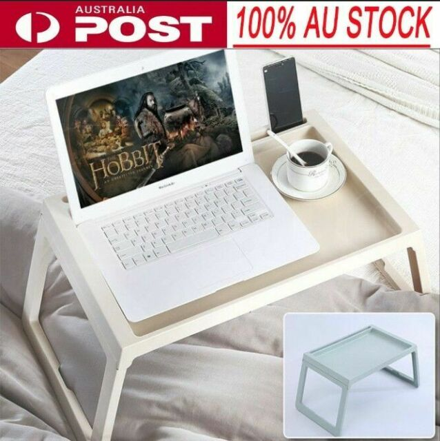 Foldable Laptop Stand Desk Lap Bed Tray Table Portable Breakfast Serving Tray