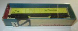 Arnold-0405-DB-gelb-Gedeckter-Gueterwagen-034-Bananen-034-gt-NEU-OVP-Raritaet