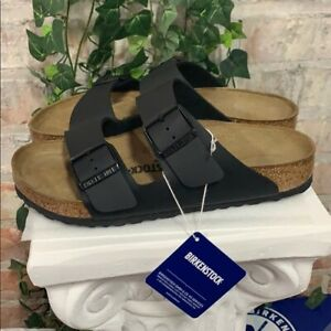 NEW-AUTHENTIC-Birkenstock-Arizona-Black-Regular-Width-Women-039-s-Sandal-Pick-Size