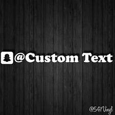 "Custom Snapchat Handle 9"" Vinyl Decal sticker username illest fatlace jdm funny"
