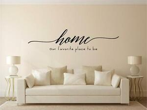 Home-Our-Favorite-Place-To-Be-Vinyl-Decal-Wall-Sticker-Lettering-Words-Decor