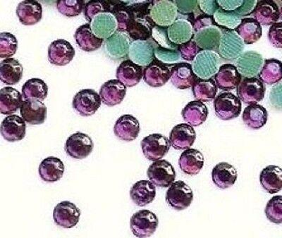 144 Hot Fix Iron On Rhinestones Jewel/1 gross/SS20 5mm-Violet Purple *FREE SHIP