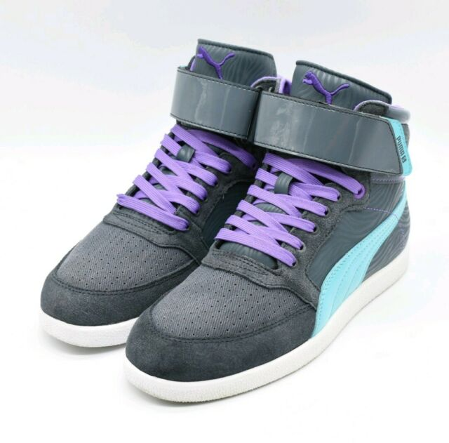 Puma Skylaa Mid PZ Womens Hi Top Shoes Size 7.5 US 38 EUR 5 UK Gray Purple Blue