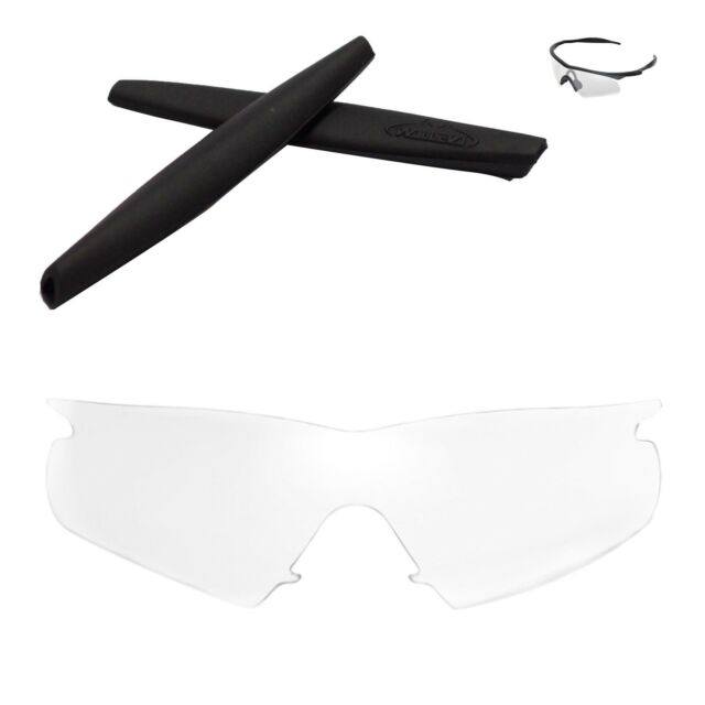 712f301dd4f Walleva Clear Replacement Lenses and Black Rubber Kit for Oakley M Frame  Hybrid