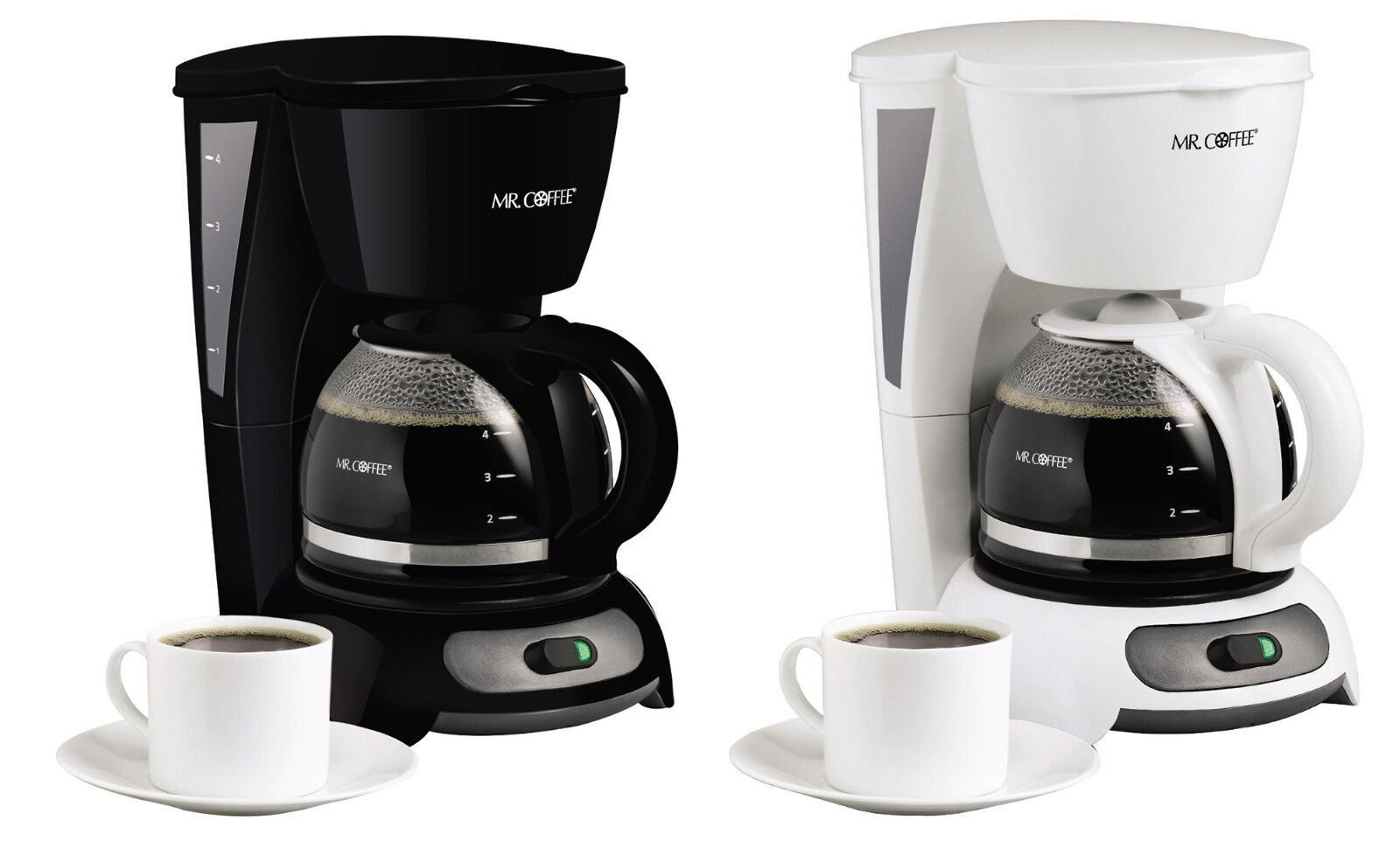 Mr Coffee Maker Clean Light Stays On : Mr. Coffee TF4 4-Cup Switch Coffeemaker, 2 Colors eBay