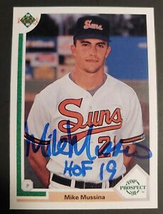 1991 Upper Deck Mike Mussina Signed Auto Autographed RC ROOKIE HOF Orioles