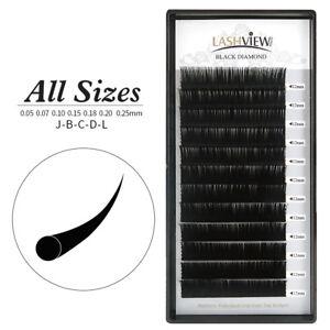 cacc16b026c Lashview .07 / .15 / .20 / .25mm All Size Individual Eyelash ...