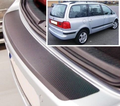 VW Sharan MK2 - Carbon Style rear Bumper Protector