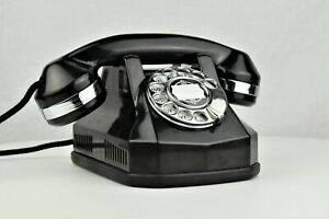 Vintage-Telephone-Automatic-Electric-Type-40-Chrome-Trim-Fully-Refurbished