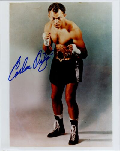 "Carlos ortiz 10"" x 8"" Colour Signed Autograph Boxing Photo"