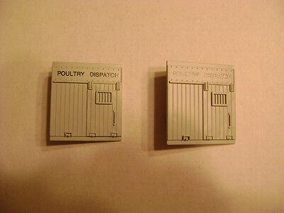 Lionel 3434-6434 Gray Poultry Dispatch Doors set of 2