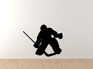 Sports Silhouette Hockey Goalie Save Vinyl Wall Decal Ebay