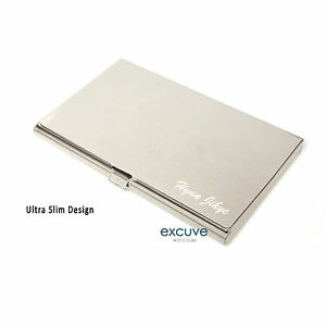 Excuvetgx3 personalized slim matt business card holder free image is loading excuve tgx3 personalized slim matt business card holder colourmoves