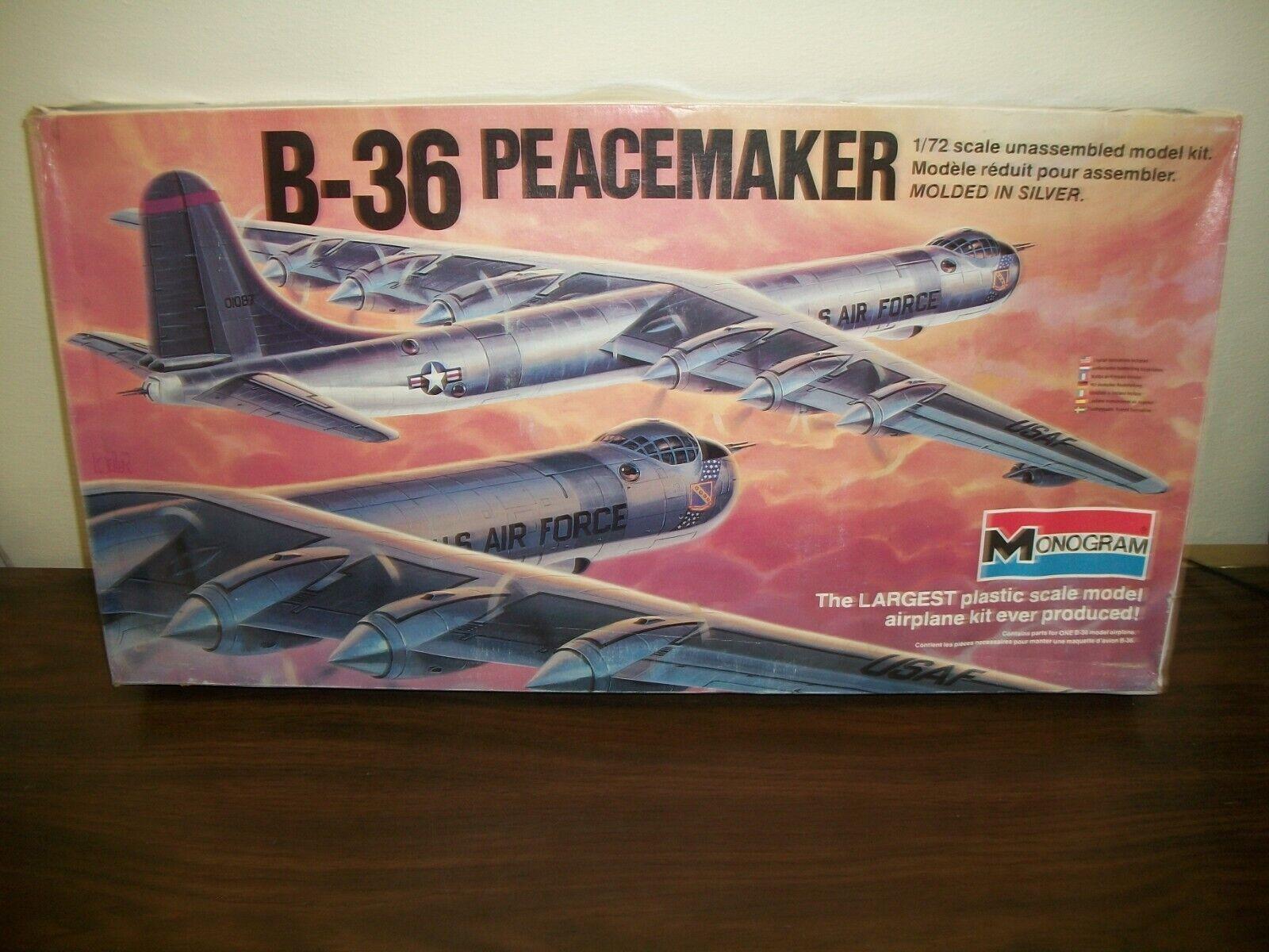 Monogram B-36 Peacemaker Model 5703 1/72 Scale 1980 LOOK
