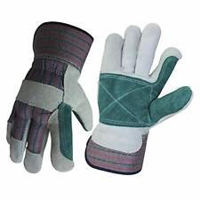 Wolf Leather Work Gloves Double Palm Glove Genuine Cowhide Heavy Duty Shoulder